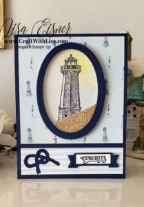 Stampin' Up! Sailing Home Shaker Card