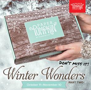 Paper Pumpkin Winter Wonders