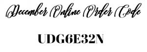 December Online Order Code
