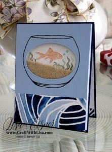 Stampin' Up! Make a Splash Shaker Card