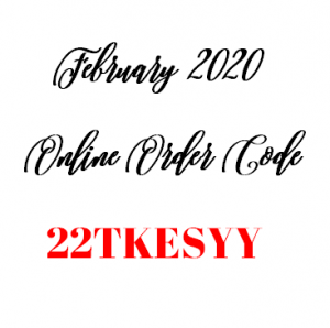 February 2020 Stampin' Up! Online Order Code
