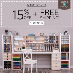 Stamp 'n Storage Sale and FREE Shipping
