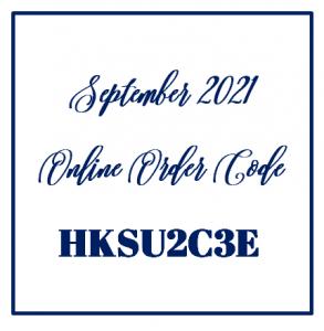 September Online Order Code